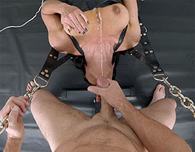 Mistress and her slave cum while having deep throat sex-Picture3